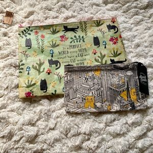 NWT Set of 2 Cat Pouches